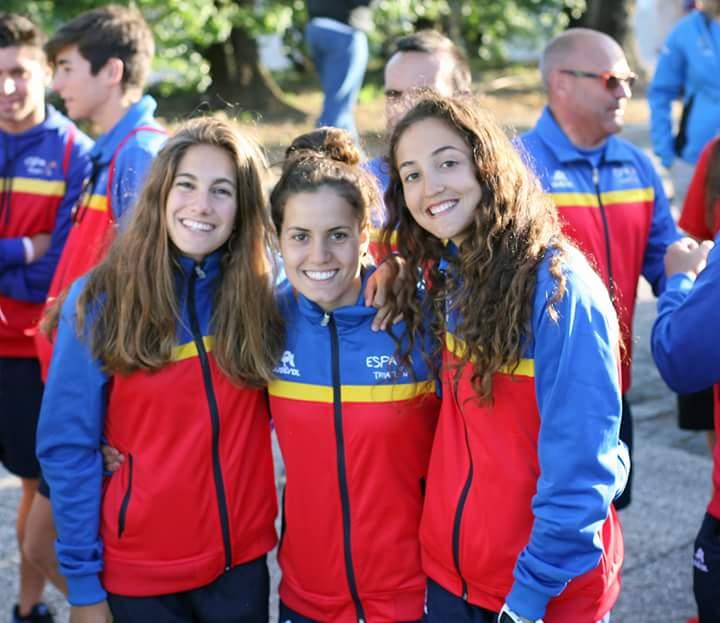 Cecilia Santamaría, Carmen Gómez e Inés Santiago